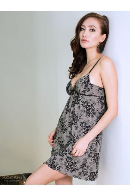 Della Babydoll Slip Lace Print