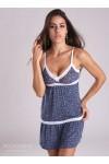 Hilda Dress Blue Print