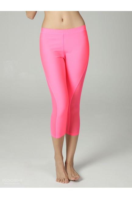 Monochrome Mollie Capri Tights Fluorescent Pink