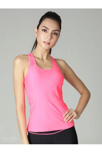 Monochrome Mia Tank Top Fluorescent Pink