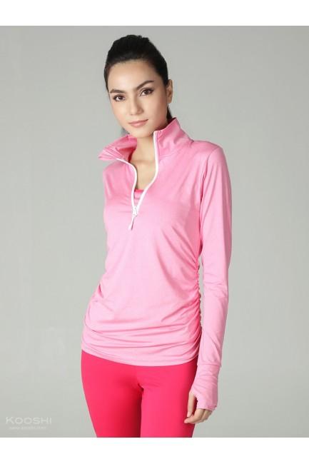 Heather Pink Cobi L/S Top Pink