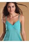 Gigi Slip Green Print