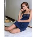 Silr Dress Blue