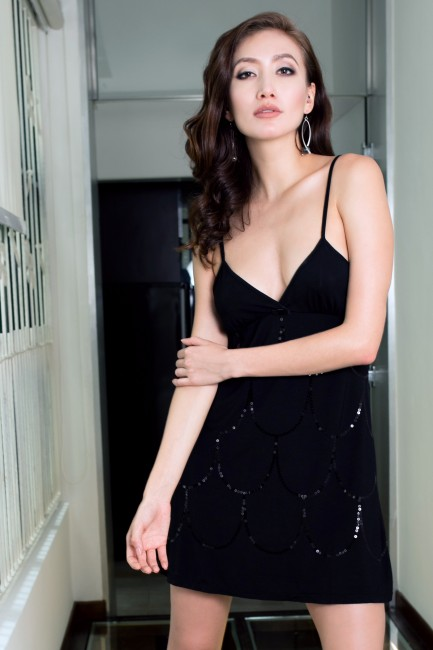 Michelle Slip Dress Black