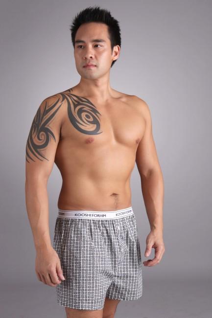 Jasper Boxer Shorts Black Check